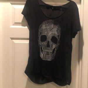 Black embellished Skelton shirt